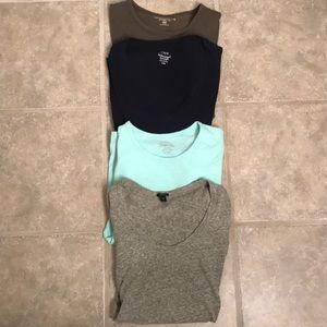 Lot of 4 J. Crew XXS Tees